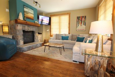 Cozy fireplace and spacious den gives you an opportunity to entertain at night.