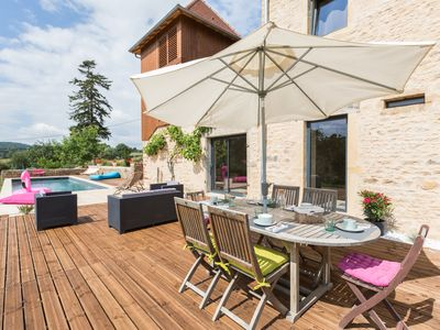 Photo for Guest house in South Burgundy with heated pool
