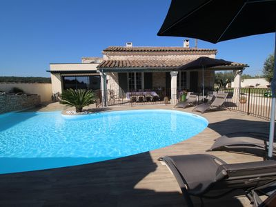 Photo for Charming holiday home in Beaucaire, Gard, with private pool