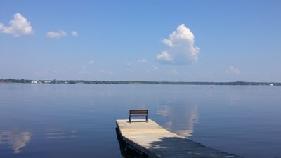 Photo for Beautiful border waters lake retreat, 50ft from waters edge! Private dock!