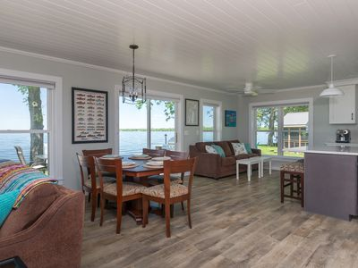 Photo for Beautifully Renovated 4 BR with Direct Lakefront on Peaceful Private Road