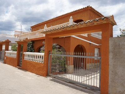 Photo for Casita in front of the beach for 6-8 people, with large terraces