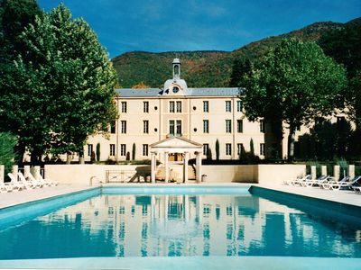 Photo for Two Studios with pool, in garden Park nearby spas and views at the Mont Ventoux.