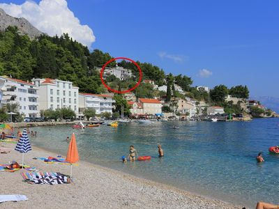 Photo for Two bedroom apartment with terrace and sea view Mimice, Omiš (A-18148-a)