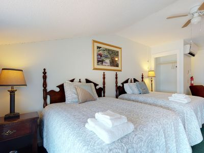 Photo for Comfortable studio w/ harbor views - steps from the dock & local restaurants!