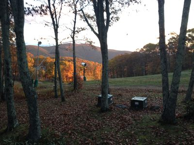 Morning view from deck during fall.