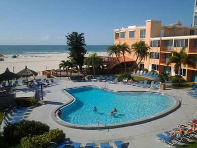 Photo for On the Beach, Three Pool/Gulf View Units for 15 Guests, Housekeeping, Large Pool