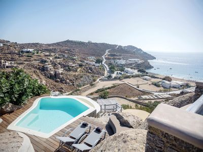 Photo for Panoramic Villa Neraida, in Mykonos near Super Paradise beach, with private pool, 3 bedrooms, 6 slee