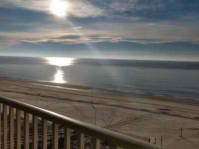Photo for 3BR/3BA-Panoramic View of Gulf-wraparound balcony-east end unit-indool pool-Wifi