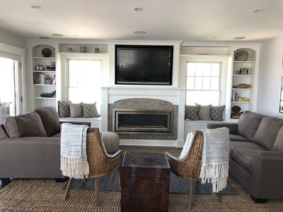 Built In tv over fireplace