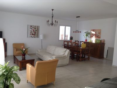 Photo for RECENT HOUSE WITH SWIMMING POOL, 10 minutes from the sea, sleeps 8