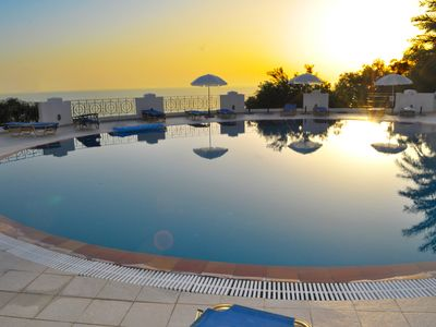 "Photo for Apartments with pool ""Maria"" on Agios Gordios beach"