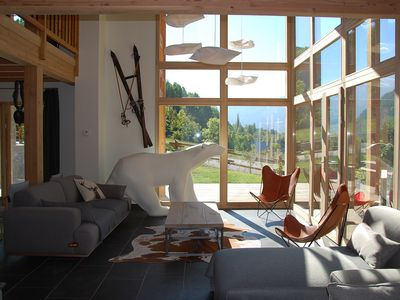 "Photo for Luxury chalet ""Le Cerf Rouge"" - Close to the ski slopes"