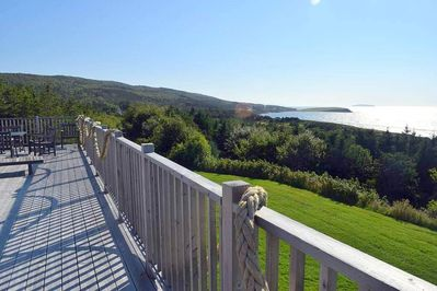 View looking south from the 800 sq. ft. deck.