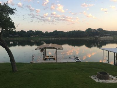 Photo for Open Water, Dock, Boat and PWC lifts, Fire Pit, Large Deck, Open Floor Plan!!!