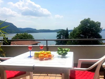 Photo for Lake Maggiore holiday apartment with marvellous lake views.