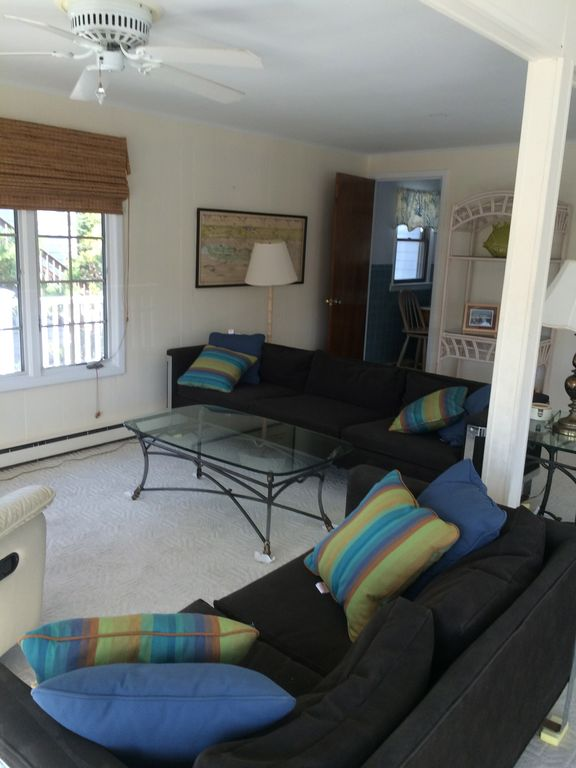 Exclusive barnegat light beach rental 39 wafting vrbo for Living room upstairs