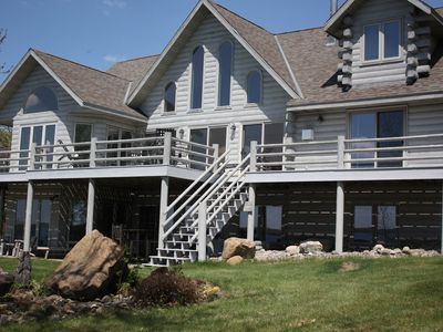 Photo for Pelican Lake log home retreat on the north shore.