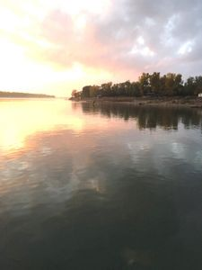 View of the sunset on the Missouri