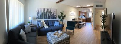 Panoramic view of the open concept