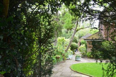 View from the church to Lychgate Cottage annexe