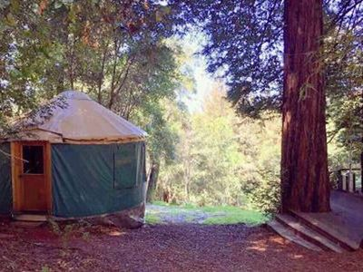 Photo for Redwood Hideaway Yurt at Mountain Top Eco- Retreat