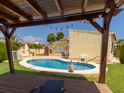 Photo for Javea Holiday Home, Sleeps 6 with Pool, Air Con and Free WiFi