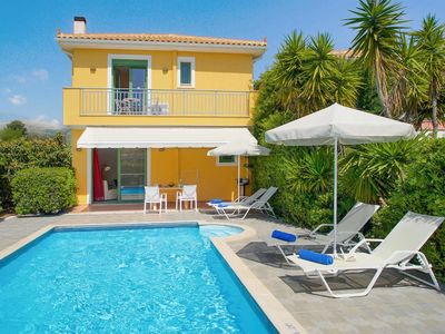Photo for 2 bedroom Villa, sleeps 4 in Skala with Pool, Air Con and WiFi