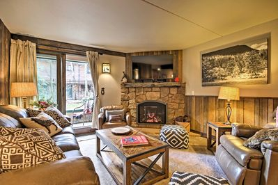 The Breckenridge vacation rental condo features warm, welcoming furnishings.