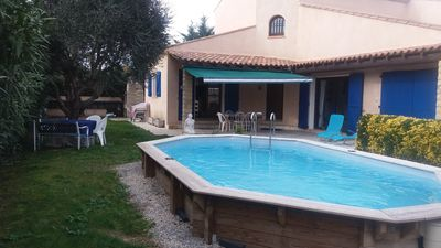 Photo for villa with pool and garden 9 km from the sea in quiet village