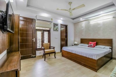 Bedroom with front Balcony