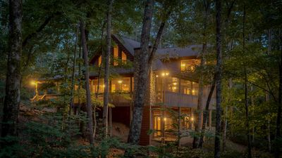Photo for Nestled In- Secluded and Relaxing | Screened Porch | Sunrock Mountain