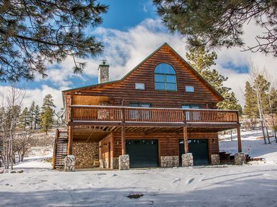 Photo for Enjoy Peace & Wildlife- Stunning Log Home w/ Mountain Views!  Booking For Winter