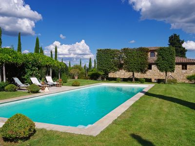 Photo for Camparone, Arceno Rentals Club, Magnificent Villa in Chianti, Exclusive Pool, Concierge, Wine & Oil, free WiFi