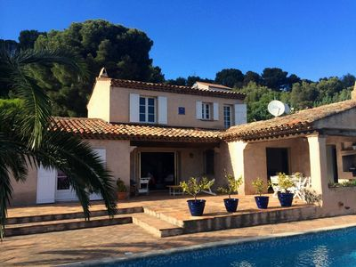 Photo for Beautiful villa 8 people, quiet area, sea view, air conditioning, pool, parking