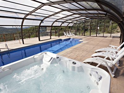 Photo for Spa& Heated swimming pool, field FOOTBALL and PADDLE, air-conditioning, WIFI....