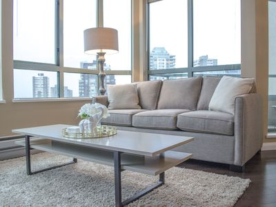 Photo for 2 BDRM Downtown Condo, Sleeps 6, 5 minute walk to 22km seawall walk