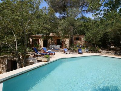 Photo for BEAUTIFUL NATURAL STONE FINCA - quiet and modern, great pool, terrace, Wifi, TV, BBQ