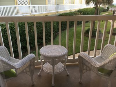 sit comfortably on the balcony