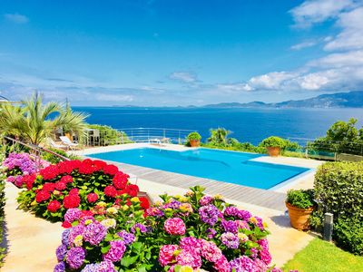 Photo for A stunning Corsican Villa with amazing 180° sea views and infinity swimming pool