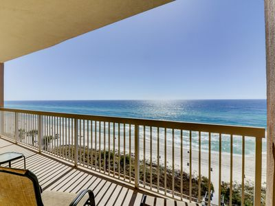 Photo for Inviting ninth-floor condo w/ upscale décor, Gulf front views, & shared pools!