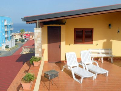Photo for Beautiful Apartment Dario with sea view, close to the beach, wifi-free