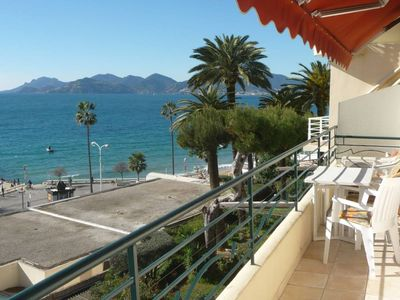 Photo for Superb sea front apartment ideally located near the Palais des Festivals and the center