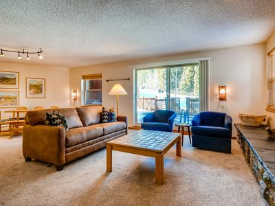 Photo for Ski-in/ski-out condo w/ shared pool, shared hot tub, and wood-burning fireplace!