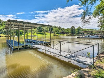 Photo for Lakefront Hot Springs Home w/ Updated Deck & Dock!