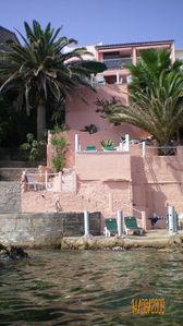 Photo for Villa directly on the beach in the southern Corsica in Tarco