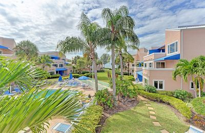 Photo for 210 Sand Cay Beach Resort Pool & Garden View