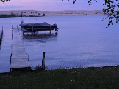 private assoc beach lot w/dock (sea wall), sandy bottom, cottage not on lake