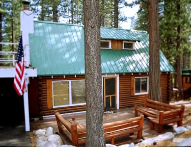 Photo for Charming Log Cabin | HOT TUB | Sauna | Walk to Beach | Pet Friendly | Ski