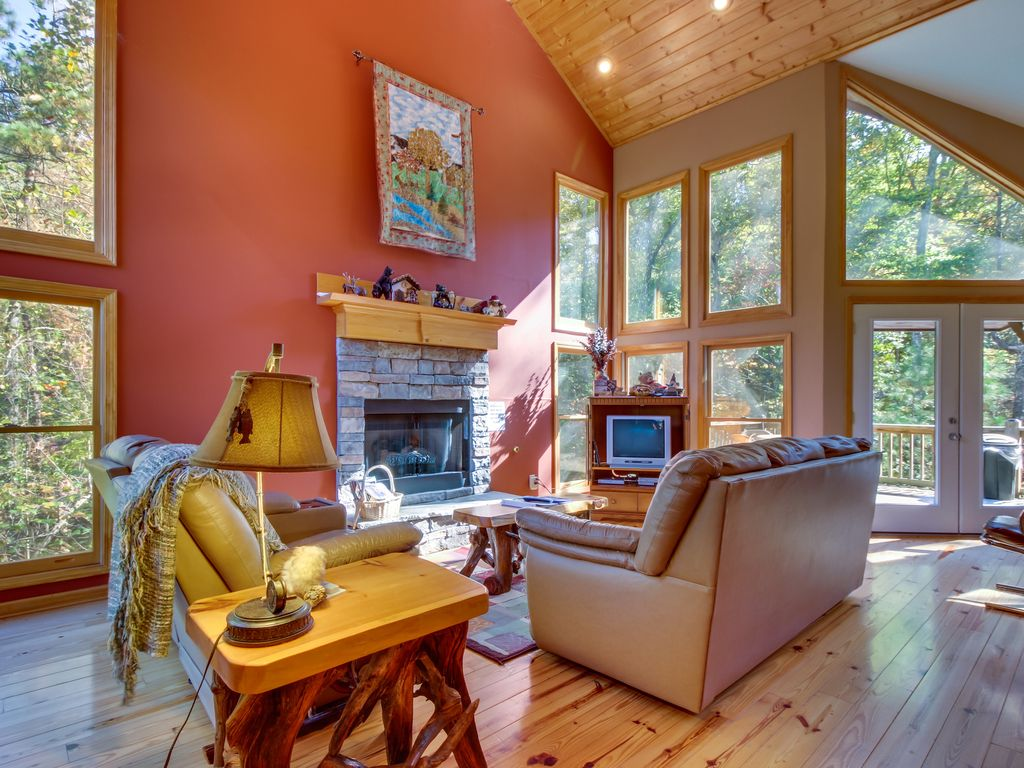 Spacious Cabin W A Game Room A Firepit Vrbo